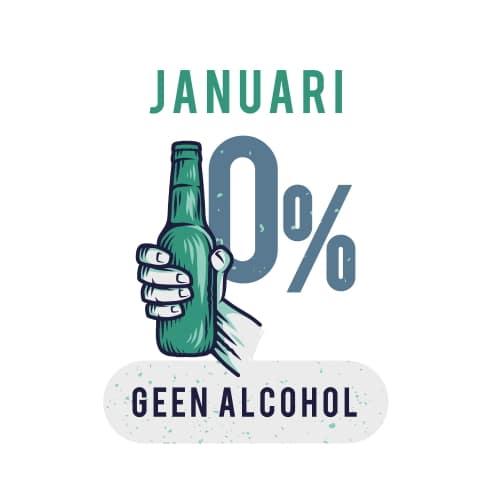 Sportrusten Jaarprogramma - Januari: Geen alcohol