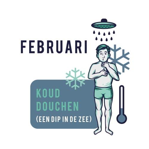 Sportrusten Jaarprogramma - Februari: Koud douchen