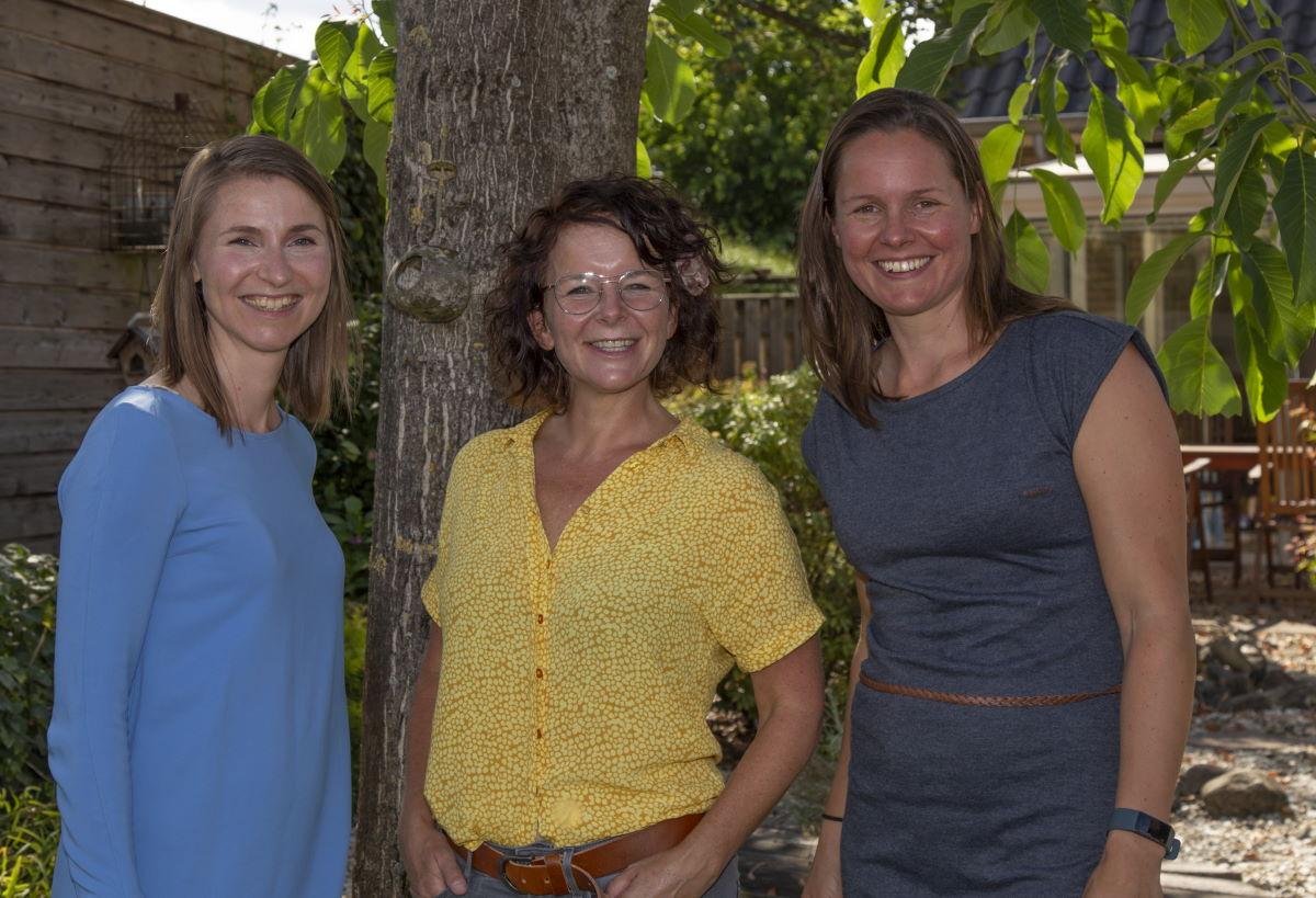 Marieke de Groot, Janneke Poort en Brenda Frunt