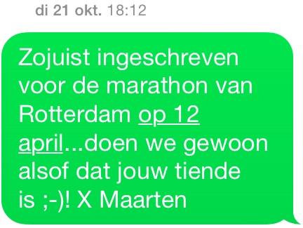 Waarom ik de marathon loop